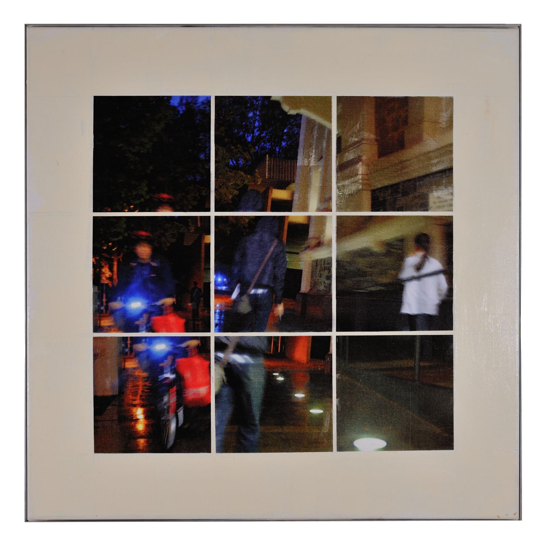 Unley #1 - mixed media on canvas 90cm x 90cm 2013